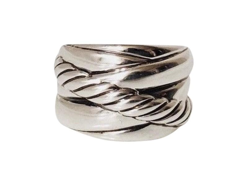 David Yurman Crossover Sterling Silver Ring Size 6
