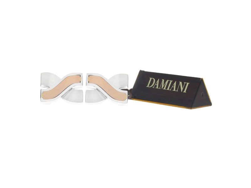 Damiani 20054622 18K Rose Gold & Sterling Silver Cufflinks