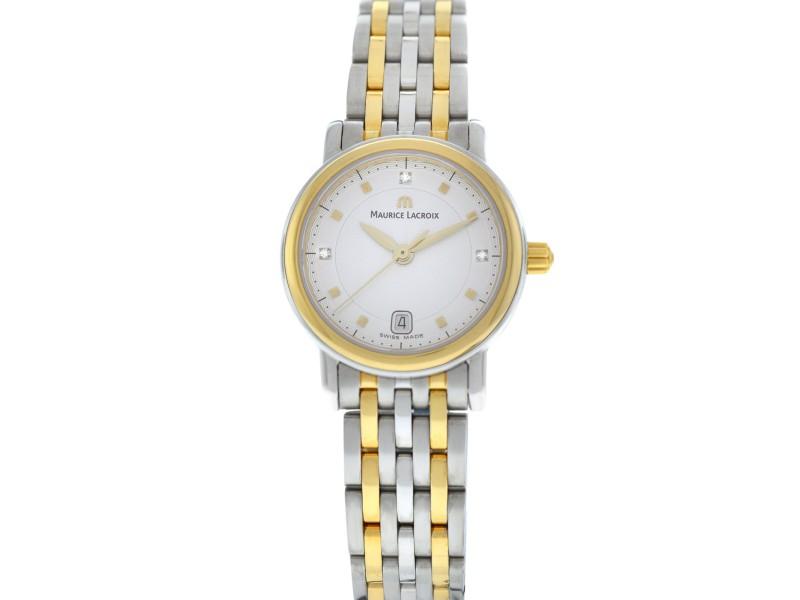 New Lady Maurice Lacroix Les Classiques LC1012-SY013-150 Diamond Quartz Watch