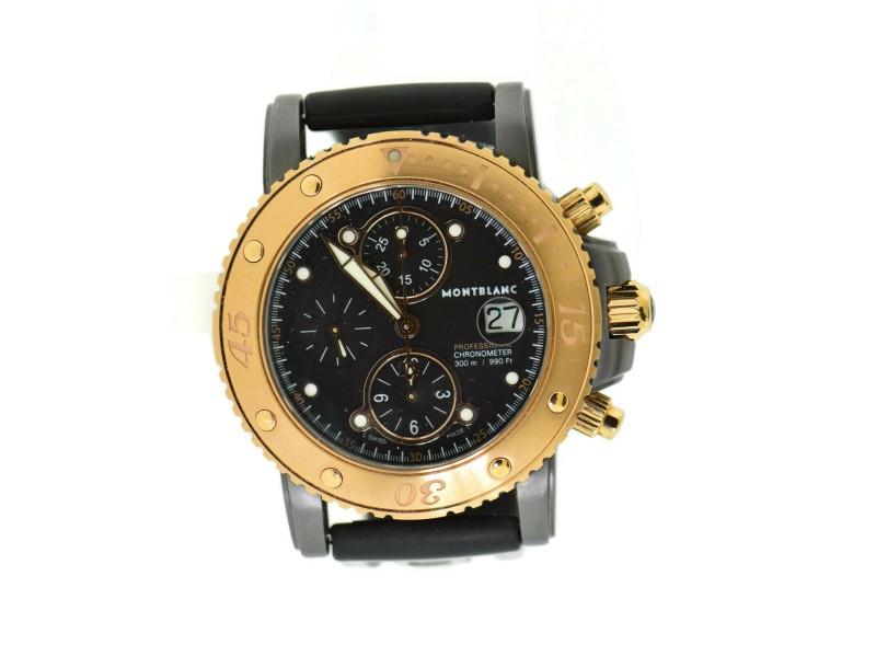 Montblanc Sport Chronograph 18K Rose Gold/Tantalum Watch 103113