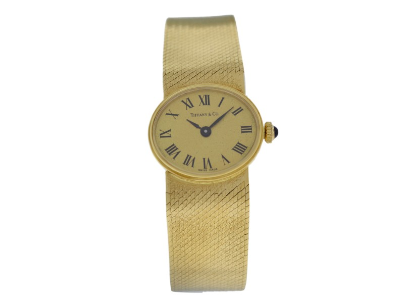 Ladies Tiffany & Co. & Chopard Rare Vintage 18K Gold Mechanical Watch