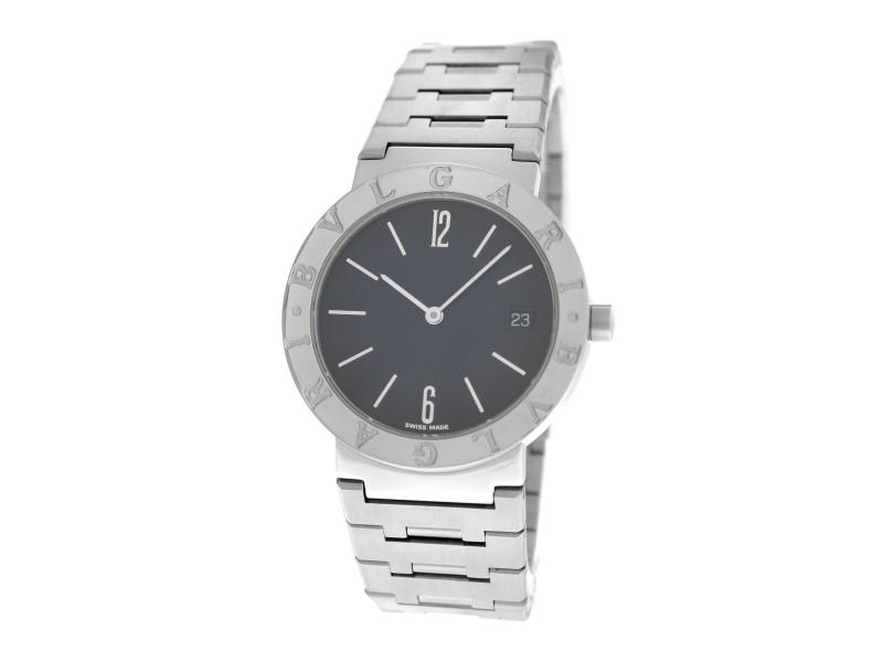 Unisex Bulgari Bulgari BB33SS Steel Date 33MM Quartz Watch