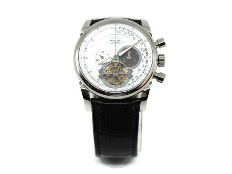 Parmigiani Tondagraph Tourbillon 18K White Gold Watch PF601712.01