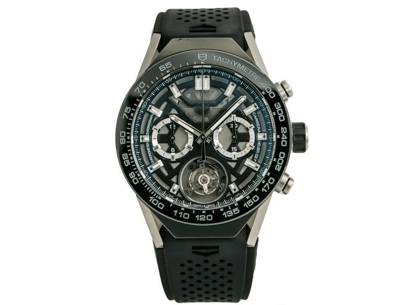 Tag Heuer Carrera 02T Tourbillon ACBF5A80 Mens Automatic Watch Titanium 46mm