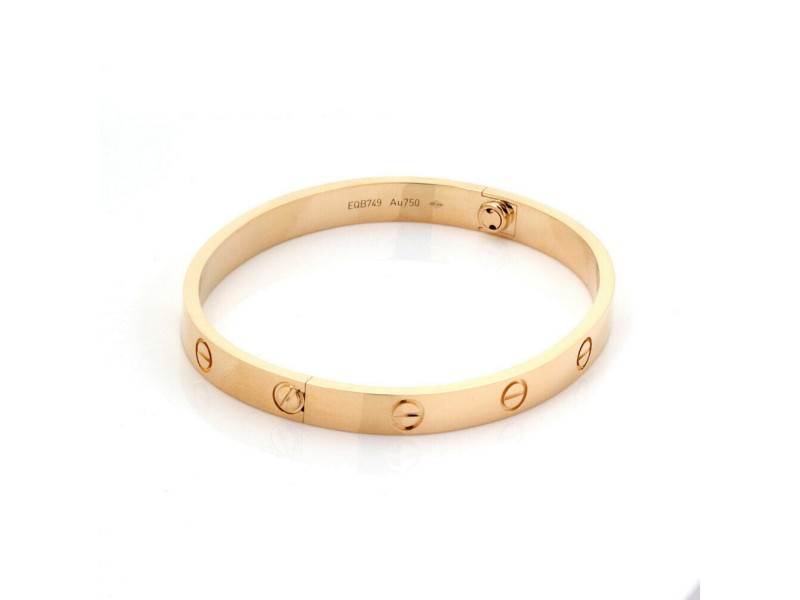 Cartier Love Bangle New Screw in 18k Rose Gold Size 18