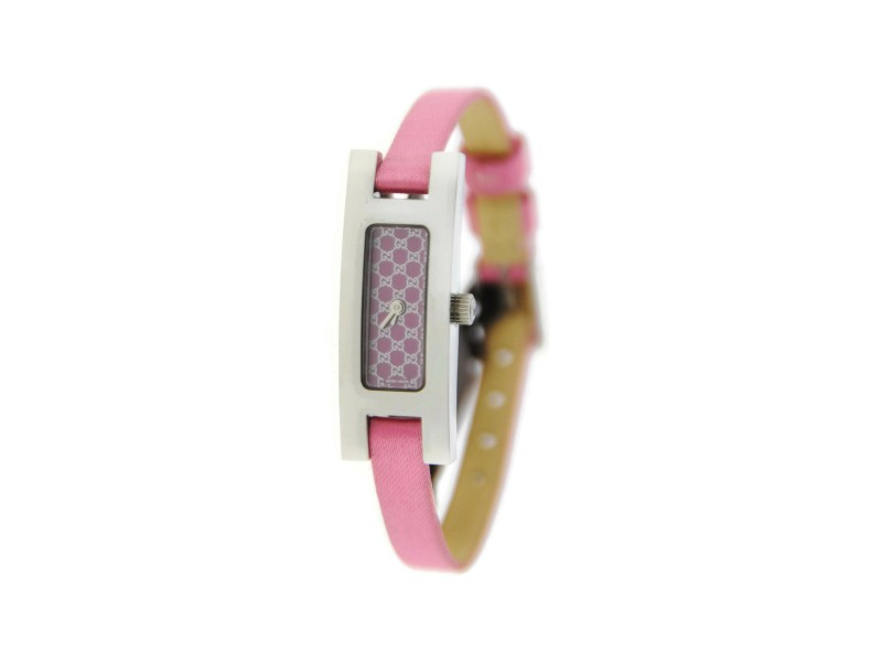 Gucci 3900L G Link Pink Dial Stainless Steel Watch YA039539
