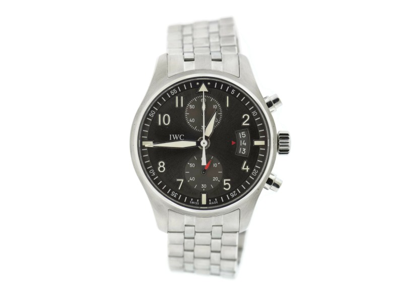 IWC Pilot Spitfire Chronograph Stainless Steel Watch IW387804