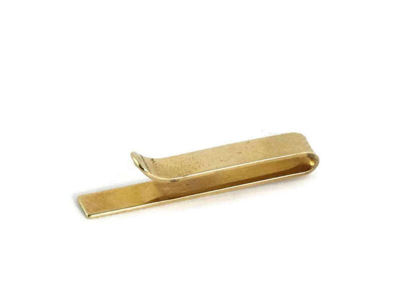 Vintage Tiffany & Co. 14k Yellow Gold Fluted Tie Clip