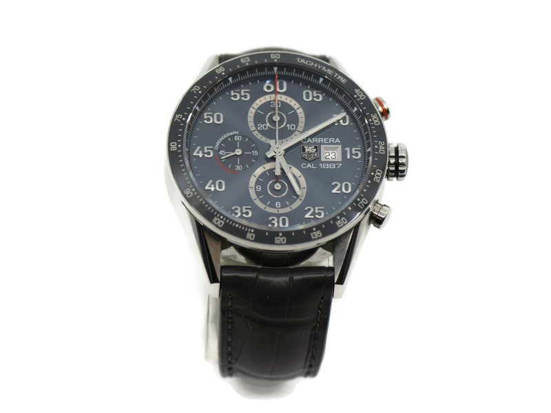 Tag Heuer Carrera Cal 1887 Chronograph Stainless Steel Watch CAR2A11
