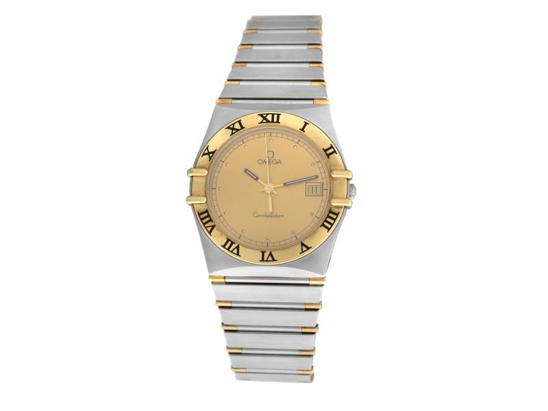 Unisex Omega Constellation 396.1070 Half Bar Gold 32MM Quartz Date Watch