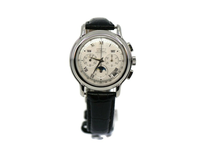 Zenith Chronomaster Calendar Moon Phase Stainless Steel Watch 01.0240.410