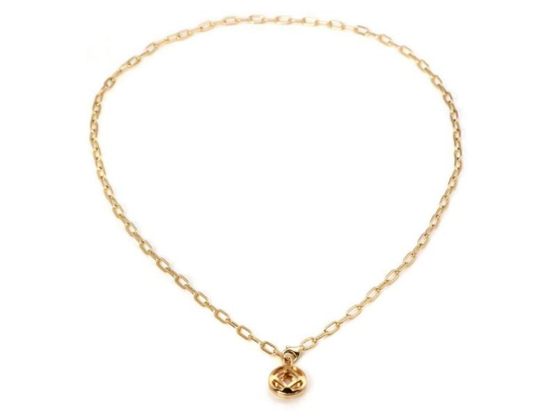 Cartier Pasha 18k Yellow Gold Open Round Pendant & Chain w/Paper