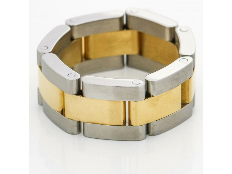 Rolex Oyster Bracelet Links Ring in Stainless Steel and 18k Yellow Gold