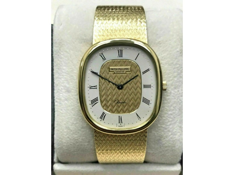 Patek Philippe Golden Ellipse Ref 3838 18K Solid Gold with Box