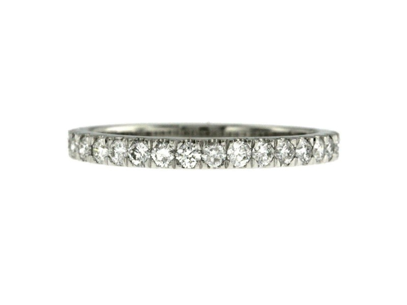 0.58 CT Natural Diamonds G SI1 in 14K White Gold 3/4 Wedding Band Ring