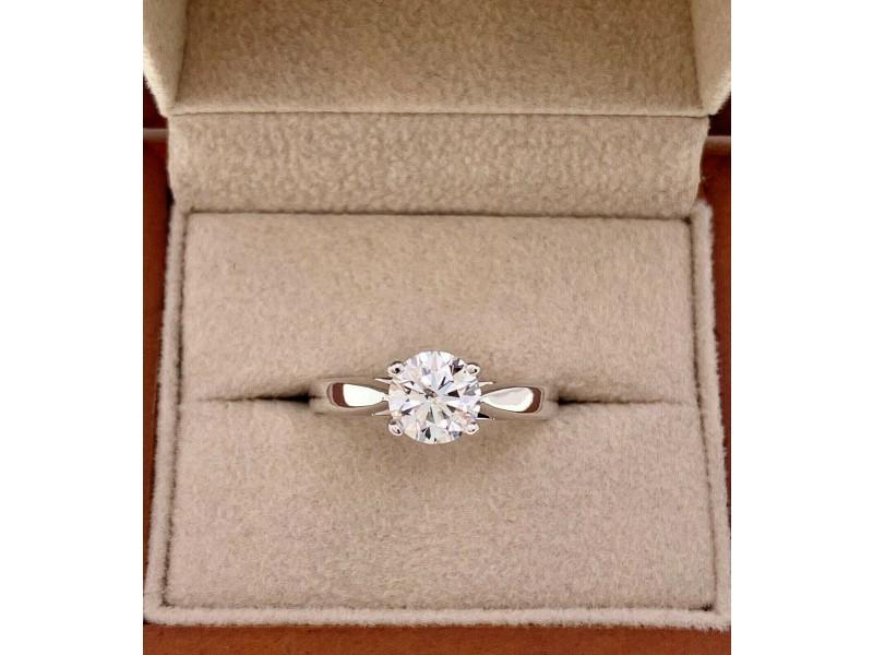 Round Brilliant Cut Diamond 1.00 Carat H SI2 EGL Solitaire Engagement Ring