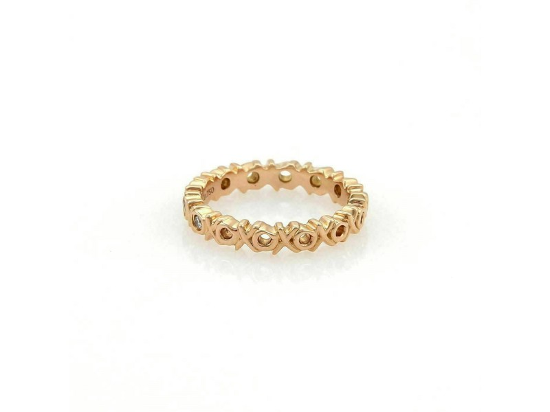 Tiffany & Co. Picasso Diamonds 18k Rose Gold Love & Kisses Band Ring