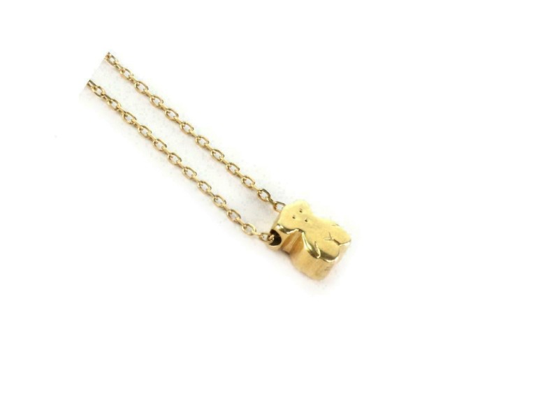 Tous Mini Bear 18k Yellow Gold Pendant