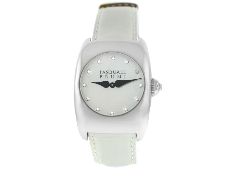 Ladies' Pasquale Bruni PBU 001 AC BN Steel MOP Diamond Quartz 29MM Watch