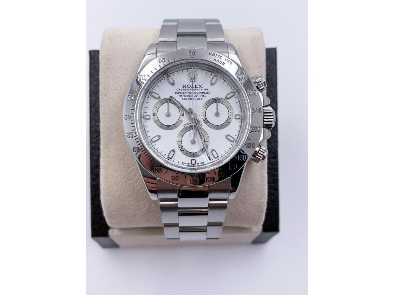 Rolex Daytona 116520 White Dial Stainless Steel 2001