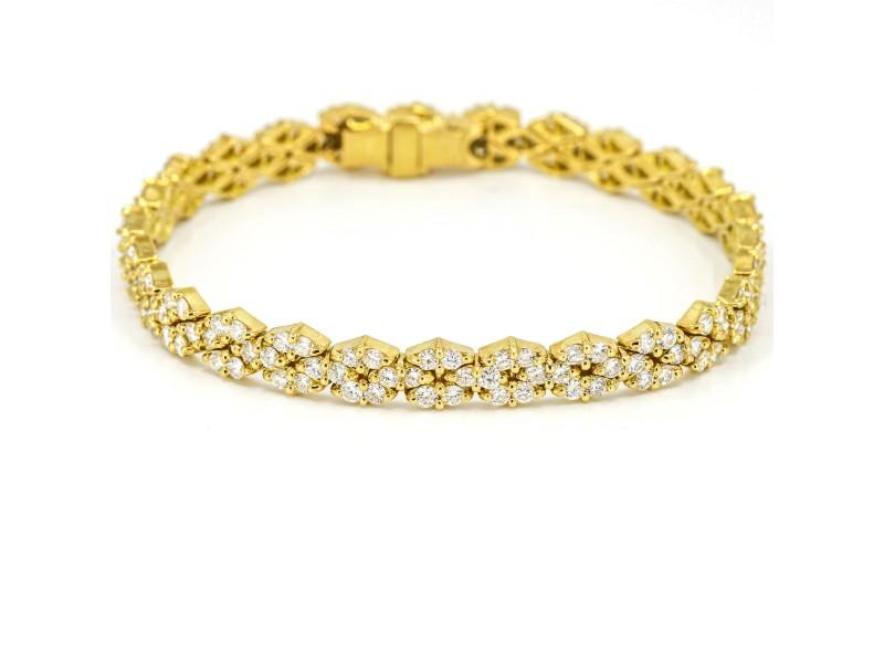 Hammerman Brothers Diamond Tennis Bracelet in 18k Yellow Gold ( 3.50 ct tw )