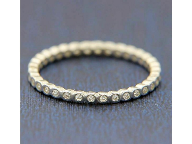 925 Sterling Silver White CZ Eternity Band Ring Size2,3,4,5,6,7,8,9,10,11,12»R52