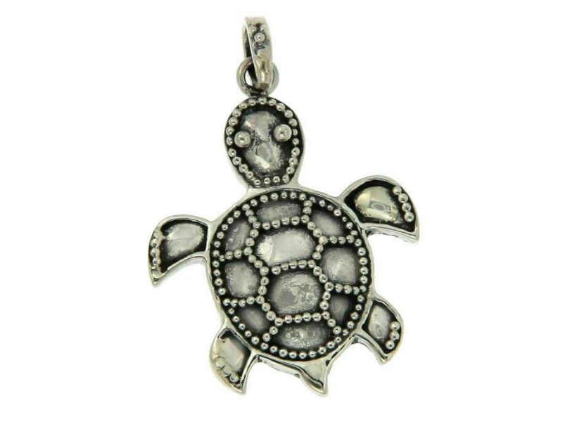 Solid Sterling Silver TURTLE Pendant BRAND NEW»P322