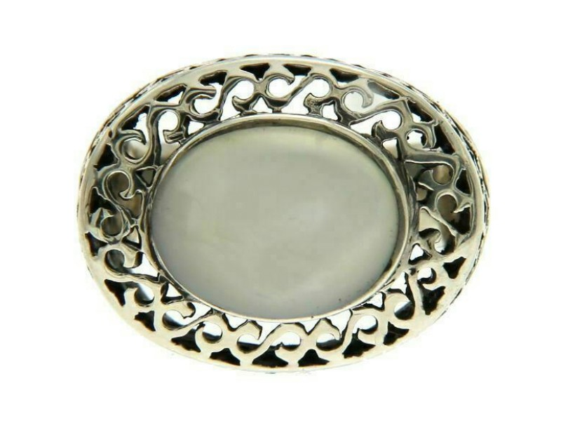 9256 Sterling Silver Oval MOP Ring»R124