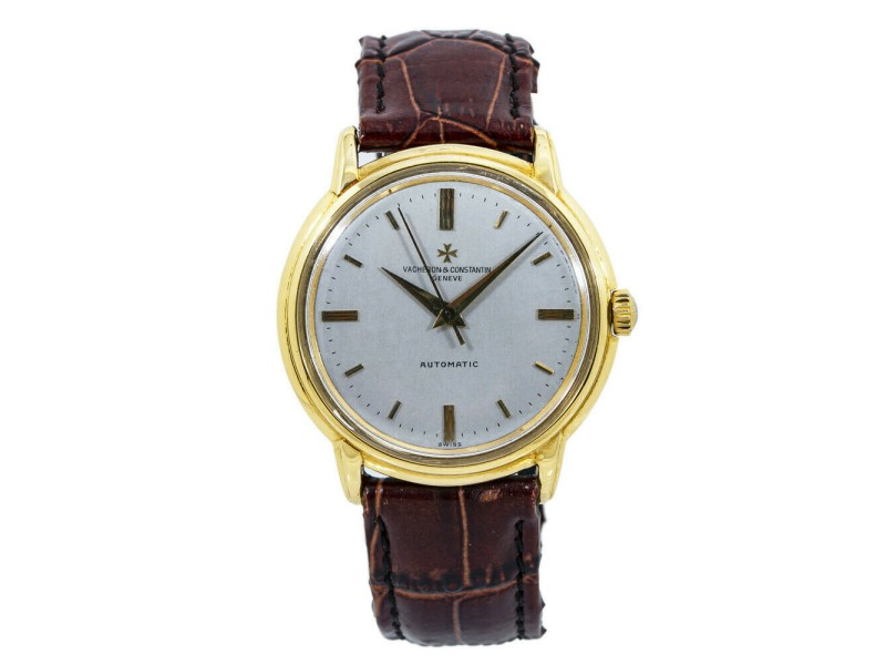 Vacheron Constantin Geneve 6394 Vintage 18K Gold Automatic Mens Watch 36MM