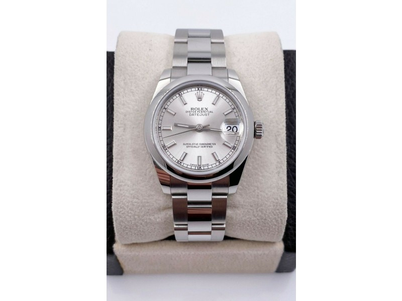 BRAND NEW Rolex 31mm Midsize Datejust 178240 Silver Dial Stainless Steel 2020
