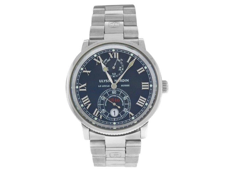 Ulysse Nardin Maxi Marine 263-22 Mens Stainless Steel Automatic 38MM Watch