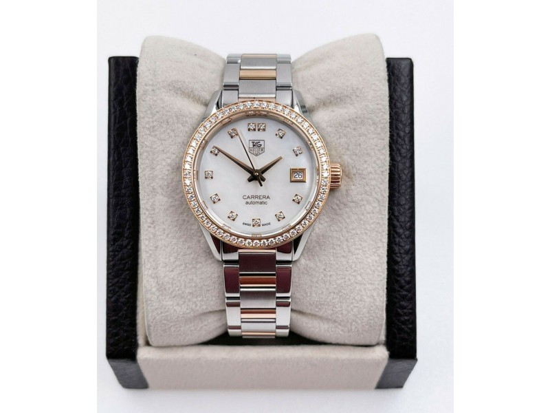 Tag Heuer Carrera WAR2453.BD0777 Mother of Pearl Dial Ladies