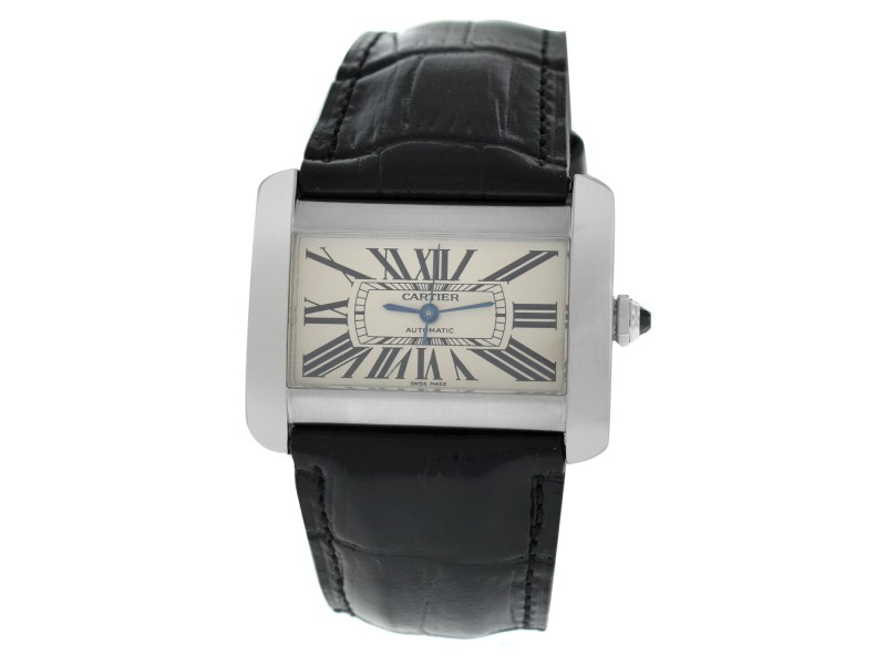 Cartier Divan 2612 Unisex Large Stainless Steel Automatic 38MM Watch