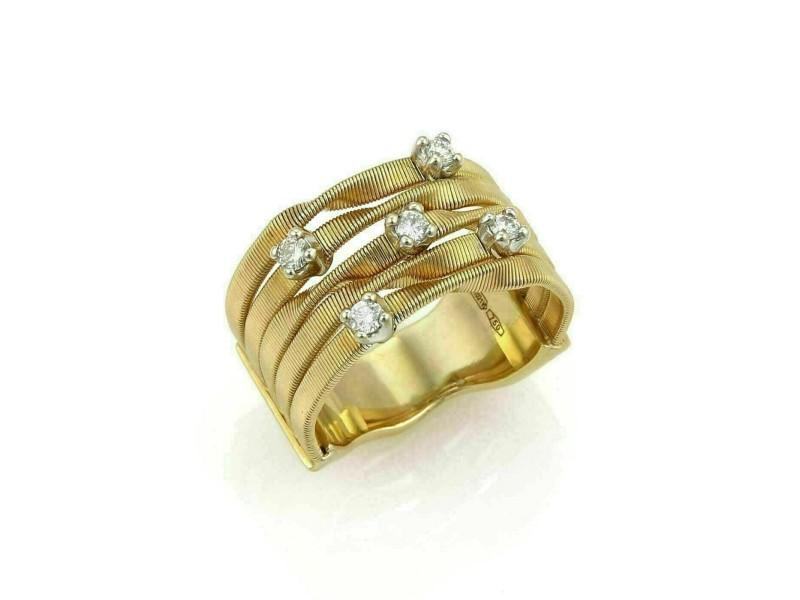 Marco Bicego Marrakech Diamond 18k Yellow Gold 5 Row Band Ring