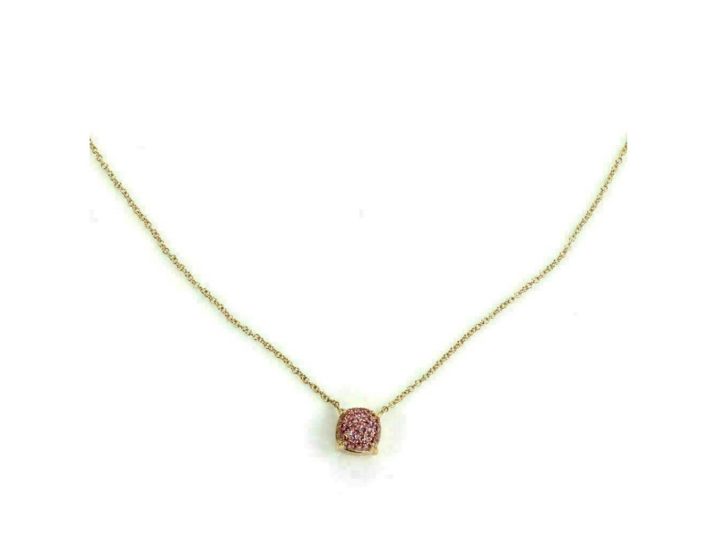 Tiffany & Co Picasso Sugar Stack Pink Sapphire 18k Rose Gold Mini Pendant
