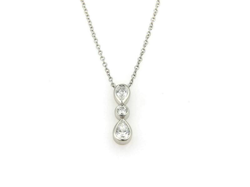 Tiffany & Co. Jazz Diamond  Platinum Pendant Necklace