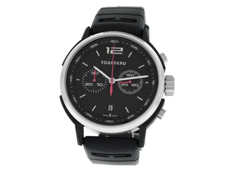 Tourneau TNY Chronograph TNY440302002 Men's Steel PVD 44MM Automatic Watch