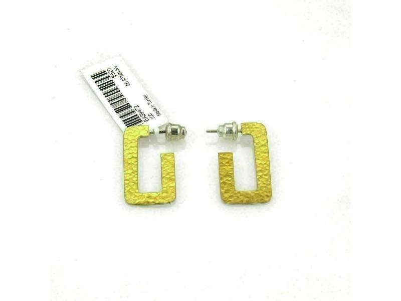 Gurhan Sterling Silver & 24k Gold Narrow Hoop Earrings Rt. $520