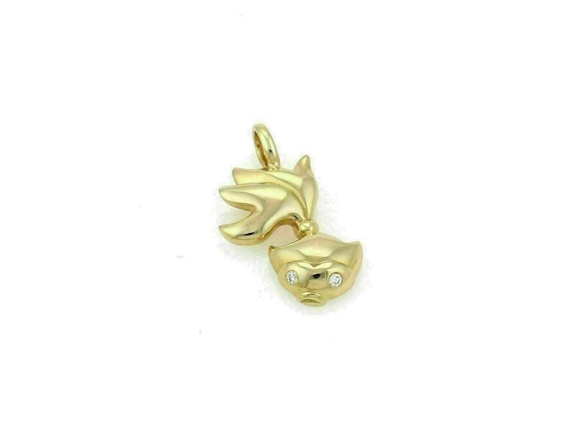 Tiffany & Co. Diamond 18k Yellow Gold Fish Charm