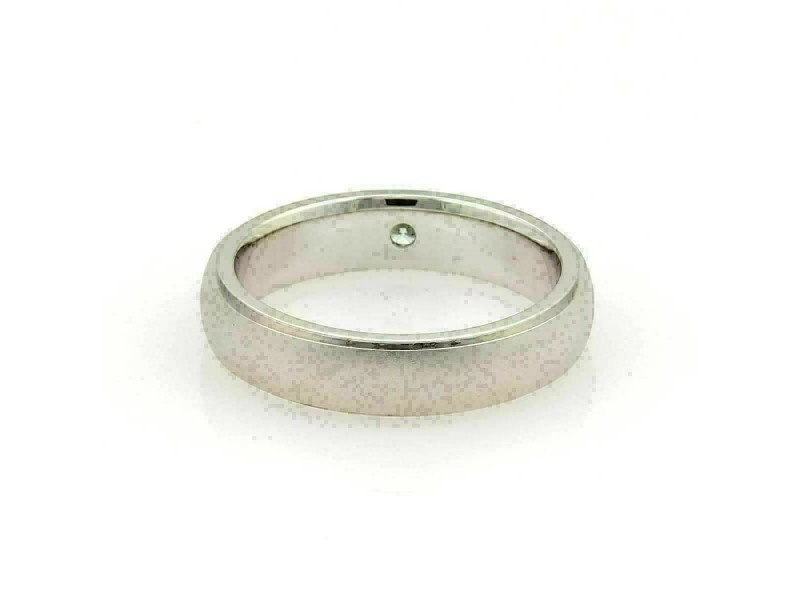 Hearts on Fire Duet Satin Diamond 18k White Gold Band Ring Size 9.5