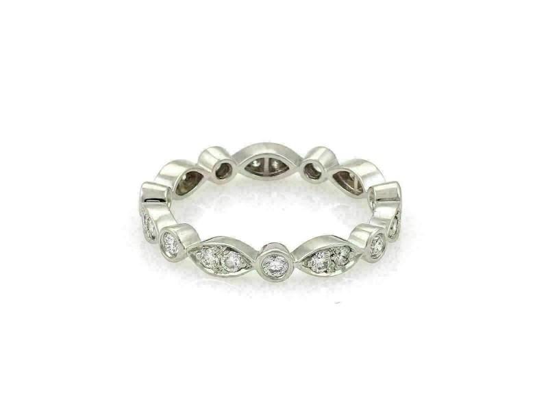Tiffany & Co. Jazz Diamond Platinum 3mm Band Ring