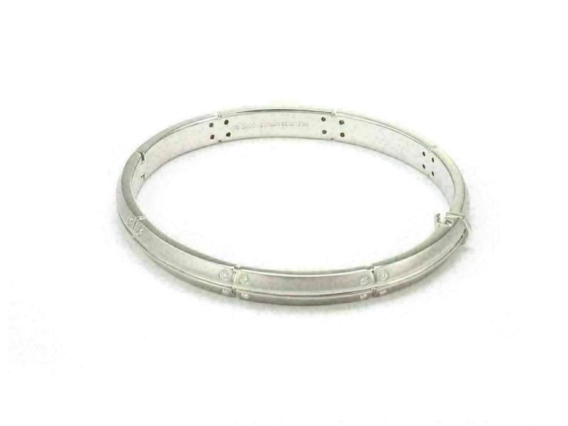Tiffany & Co. Streamerica Diamond 18k White Gold Bangle Bracelet