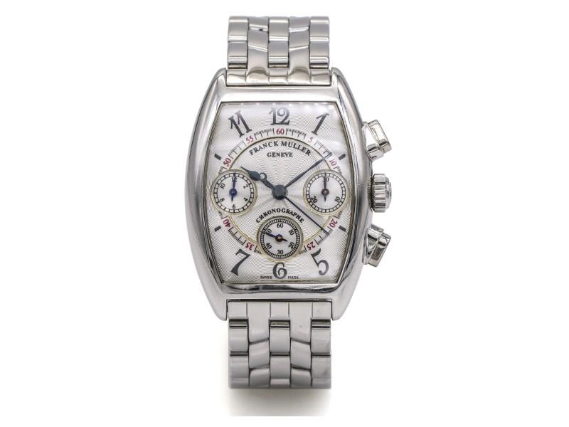 Franck Muller Cintree Curvex Chronograph Ladies Stainless Steel Watch