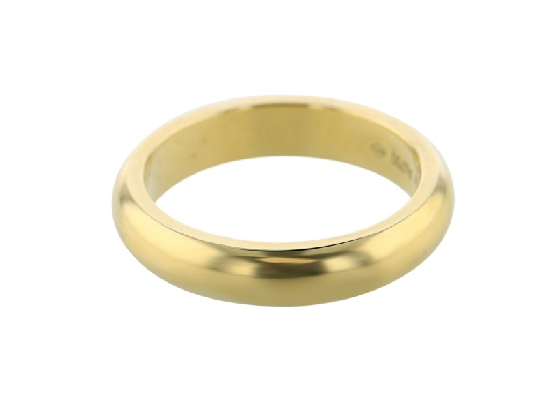 Cartier 18K Yellow Gold Wedding Band Ring w/Box
