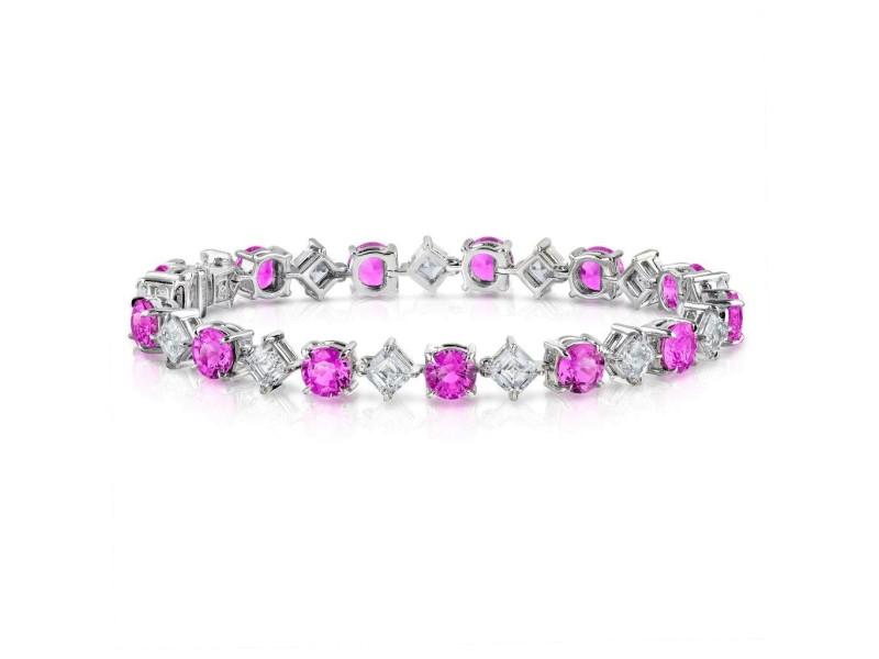 David Gross  Platinum  Sapphire Bracelet