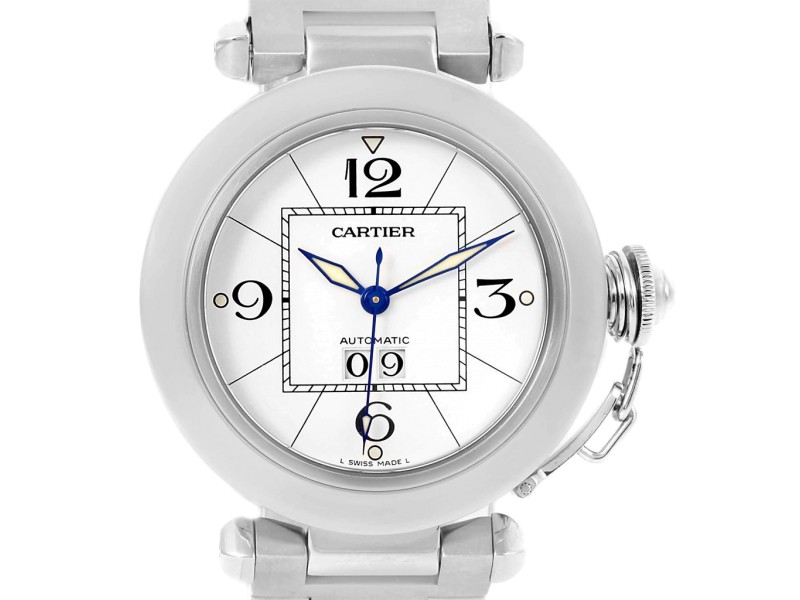 Cartier Pasha C Midsize White Dial Automatic Steel Watch W31044M7