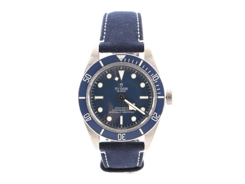Tudor Heritage Black Bay Fifty-Eight Automatic Watch Stainless Steel and Leather 39