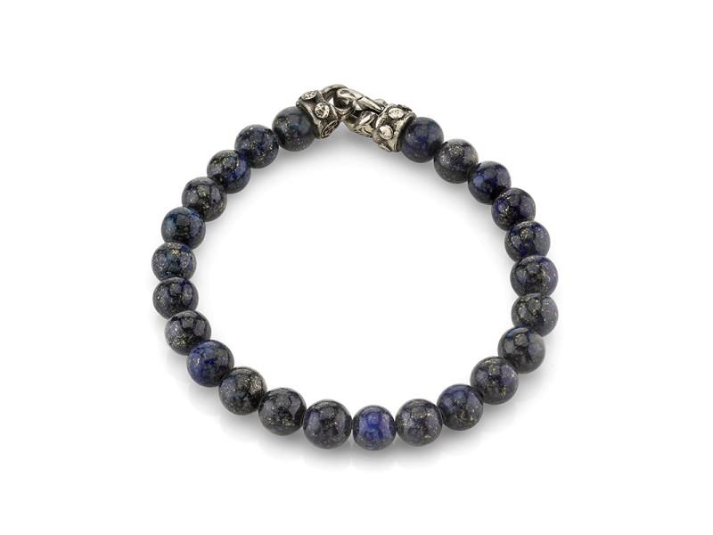 Scott Kay GB3078SPLP885 Sterling Silver Lapis Bracelet
