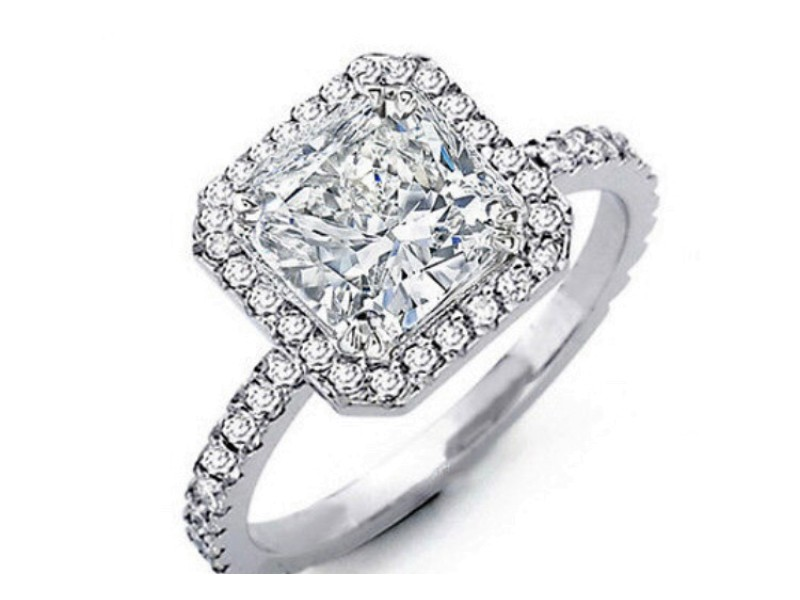 IGI Certified Lab Grown 2.08cts Diamond Engagement White Gold Ring w/Certificate