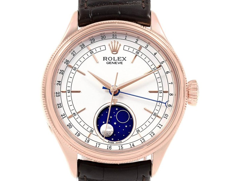 Rolex Cellini Moonphase Everose Rose Gold Automatic Mens Watch 50535